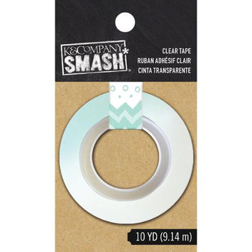 K & Company SMASH Clear Tape 10yd-Blue Dots & Stripes