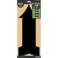 K & Company Chalk It Now Chalkboard Cardstock Die-Cuts-Arrows