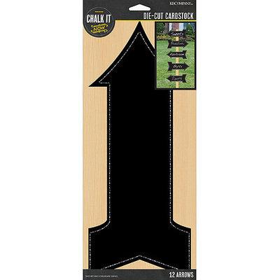K & Company Chalk It Now Chalkboard Cardstock Die-Cuts-Arrows