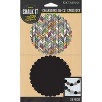 K & Company Chalk It Now Cardstock Die-Cuts-Chalkboard & Printed Scalloped Circles