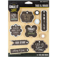 K & Company Chalk It Now Tags & Brads