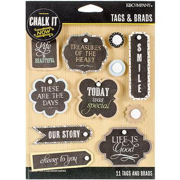 K & Company Chalk It Now Tags & Brads
