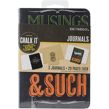 K & Company Chalk It Now 20Page Mini Journals 3/Pkg