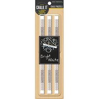 K & Company Chalk It Now Chalk Pastels 6/Pkg-White