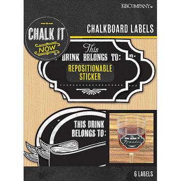 K & Company Chalk It Now Chalkboard Wine Labels