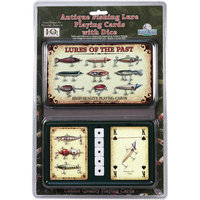River's Edge Fishing Lure Playing Cards And Dice Set