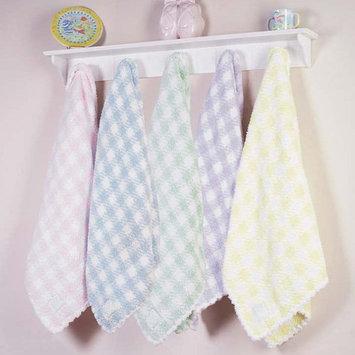 Scene Weaver Pickles Check Baby Blanket - Blue - blue