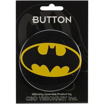 C & D Visionary 3BTTN-0061 3 in. Large Button-Batman Logo