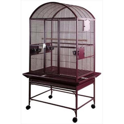 A & E Cage Co Large Dome Top Bird Cage Color: Burgundy