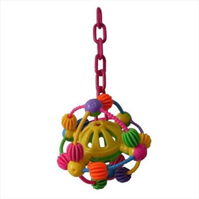 A & E Cage HB209 Space Ball on a Chain Happy Beaks Bird Toy