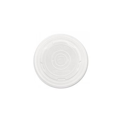 Eco Products World Art PLA-Laminated Soup Container Lids, White, 8oz, 1000/Carton