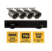 Q-See 4 Channel 960H Security System with 500GB Hard Drive, 4 700TVL Cameras, and 100' Night Vision
