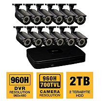 Q-See 16 Channel 960H Security System with 2TB Hard Drive, 12 960H Cameras, and 100' Night Vision