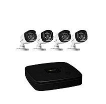 Q-See 4 Channel High Definition Security System with 1TB Hard Drive, 4 720p Bullet Cameras, and 80' Night Vision