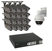Q-See 16 Channel 960H Security System with 2TB Hard Drive, 15 900TVL Bullet Cameras, 1 Pan & Tilt Camera, and 100'