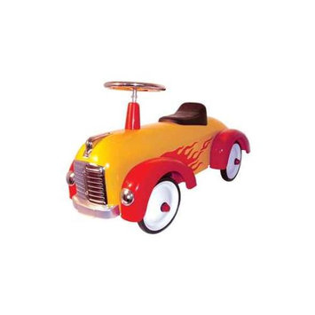 Charm Co. Speedster Hot Dog (Yellow with Red Flames)
