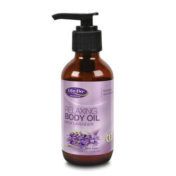 Relaxing Body Oil w/Lavender Life Flo Health Products 4 oz Liquid