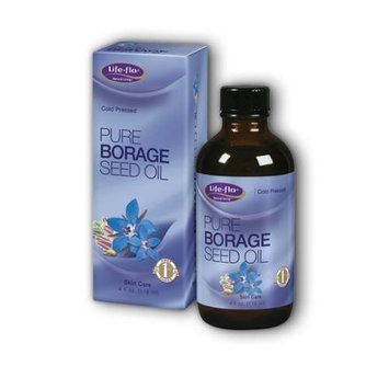 Pure Borage Seed Oil Life Flo Health Products 4 oz Liquid