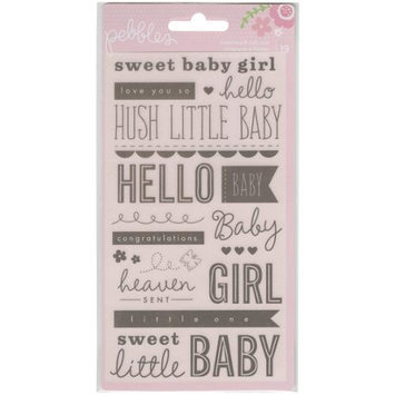 Pebbles 732461 Special Delivery Girl Watermark Rub-Ons 3.75 in. X6.75 in. -Phrases