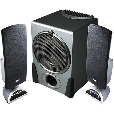 Cyber Acoustics CA-3550RB 2.1 Black Speaker System