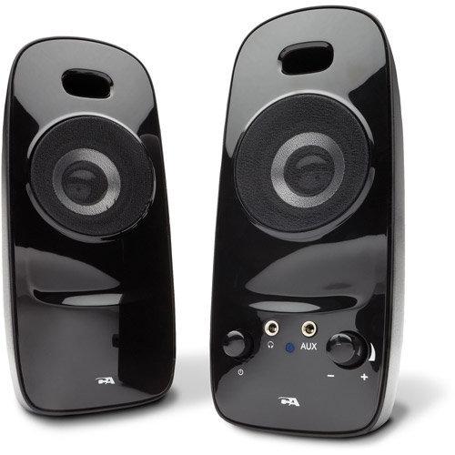 Cyber Acoustics 2.0 2-Piece Desktop Speaker System, Black