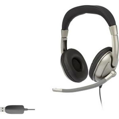 Cyber Acoustics Ac-8003 USB Stereo Headset - Stereo - USB - Wired - 20 Hz - 20 Khz - Over-the-head - Binaural - Circumaural - 8 Ft Cable (ac-8003)