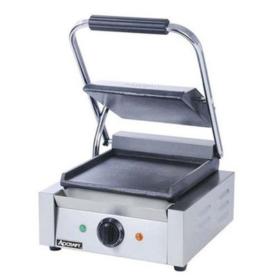 AdCraft Stainless Steel Flat Plate Panini Grill SG-811EF
