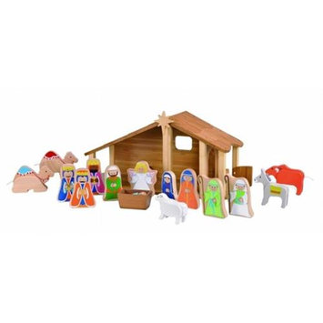 Maxim Enterprise Inc. 33512 Bamboo Nativity with Figures and Animals