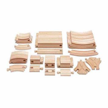 Maxim Enterprise 54-Piece Expansion Wooden Train Track Pack