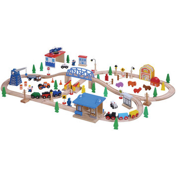 Maxim Enterprise Inc Wooden Train Set, 100-Piece