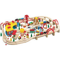 Maxim Wooden Tracks 145 Pieces Wooden Train Set