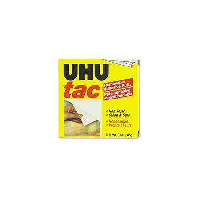 UHU 99681 Tac Adhesive Putty- Removable/Reusable- Nontoxic- 3 oz/Pack