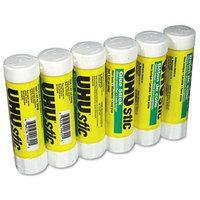UHU Stic Permanent Clear Application Glue Stick, 1.41 oz, 6/pack