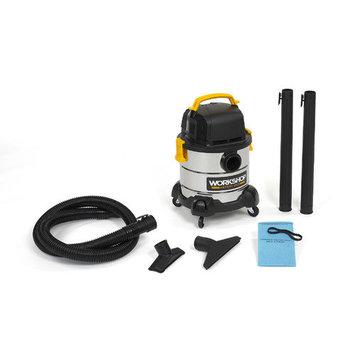 WORKSHOP Wet/Dry Vacs 4 Gallon 2.5 Peak HP Portable Stainless Steel Wet/Dry Vacuum