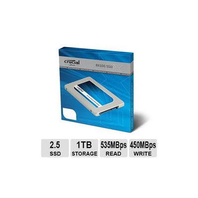 Crucial BX100 CT1000BX100SSD1 1TB 2.5 inch SATA3 MLC Internal Solid State Drive