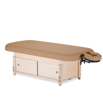 Earthlite Sedona Stationary Table with Cabinet Color: Rose Quartz