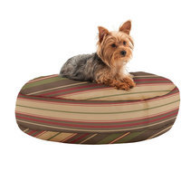 Comfort Research Wuf Fuf Round Dog Bed with Liner Zebra Small