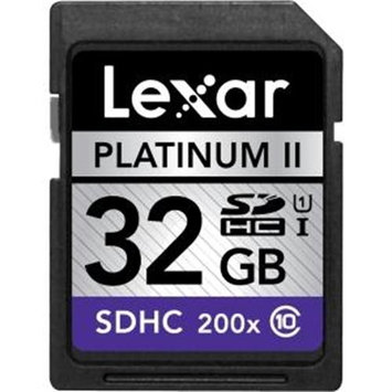Lexar Media 32GB Platinum II 200x SDHC Memory Card