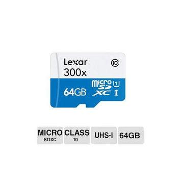 Crucial Technology Lexar High Performance 64GB Microsd Extended Capacity [microsdxc] - Class 10/uhs-i - 45 Mbps Read - 1 Card (lsdmi64gbbnl300a)