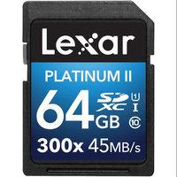 Lexar 64GB Platinum II UHS-I SDXC Memory Card (Class 10)