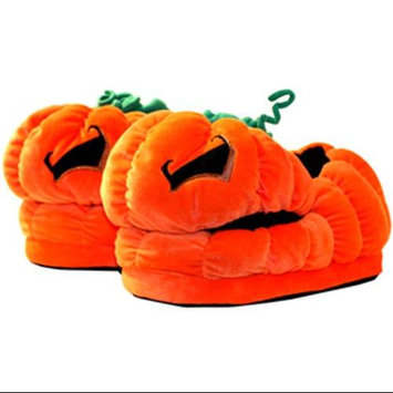 Toy Vault Here Be Monsters Jack O'Lantern Plush Slippers
