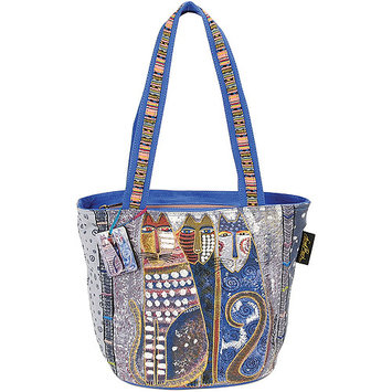 Laurel Burch LB4902 Medium Tote Zipper Top 14 in. X6 in. X9.50 in. -Autumn Felines