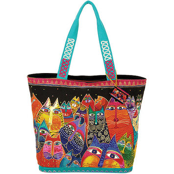 Laurel Burch NOTM277647 - Shoulder Tote Zipper Top 19-1/2