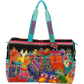Laurel Burch LB5231 Travel Bag Zipper Top 21 in. X8 in. X16 in. -Fantasticats