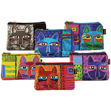 Laurel Burch NOTM277975 - Cosmetic Bag Zipper Top Assortment 9-1/4