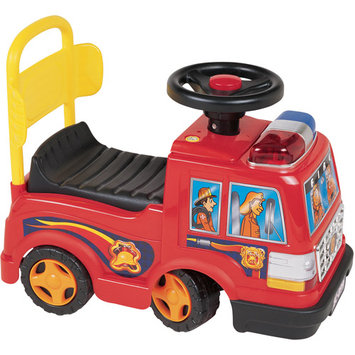 New Star Toys & Gifts, Inc New Star Sit N Ride Fire Engine Foot To Floor Ride on-Red