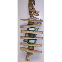 Planet Pleasures Tilt a Whirl Small 8in Natural Bird Toy