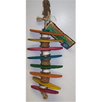 Planet Pleasures Tilt a Whirl Medium 8in Natural Bird Toy
