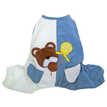 Klippo Pet Peek-a-boo Teddy Bear Dog Jumpsuit