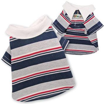 Klippo Pet Adorable Multi-Colors Striped Polo Dog Shirt